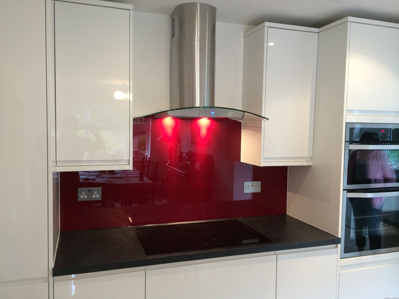 Glass splashback in muswell hill north london
