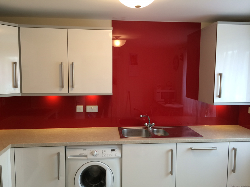 Glass splashback in great cambourne cambridge