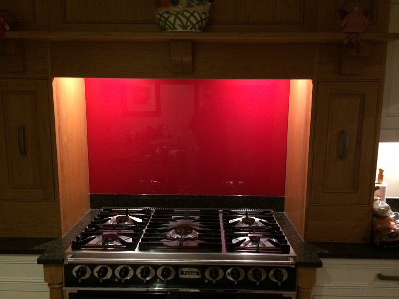 Glass splashback in little dunmow essex