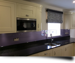 Glass kitchen worktops from Splashbacks of Disinction
