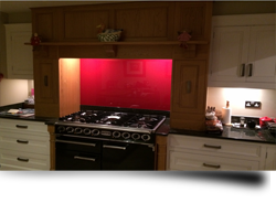 Coloured and textured glass kitchen splashbacks from Splashbacks of Disinction