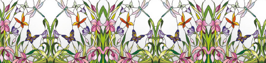 Flowers, butterflies and dragonflies make this printed glass kitchen splashback a firm favourite with nature lovers. Simply stunning. A nature themed printed glass kitchen splashback with beautiful flowers, dragonflies and butterflies will suit the more traditional kitchen perfectly.