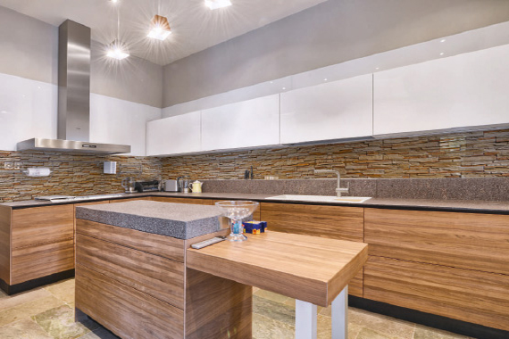 Bricks printed kitchen splashbacks