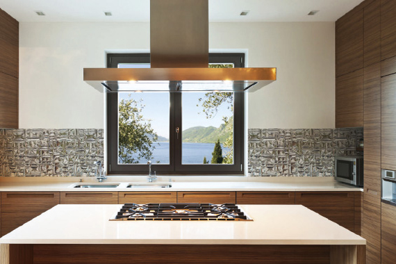 Glass effect printed kitchen splashbacks