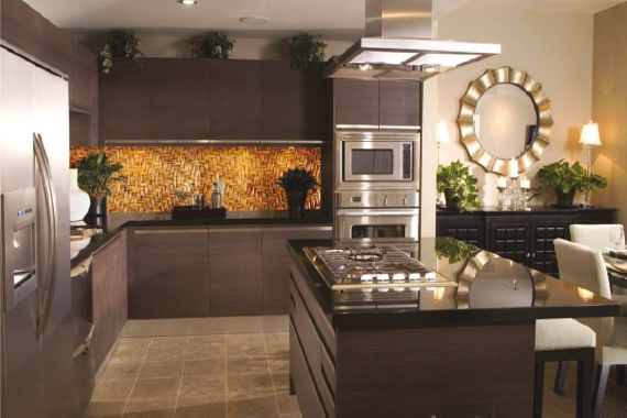 Wood printed kitchen splashbacks