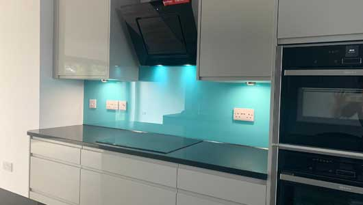 Kitchen splashback tiffany