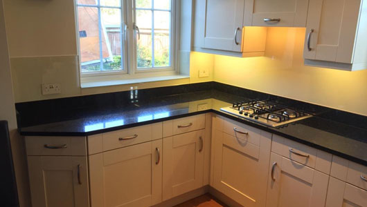 Kitchen splashback light ivory